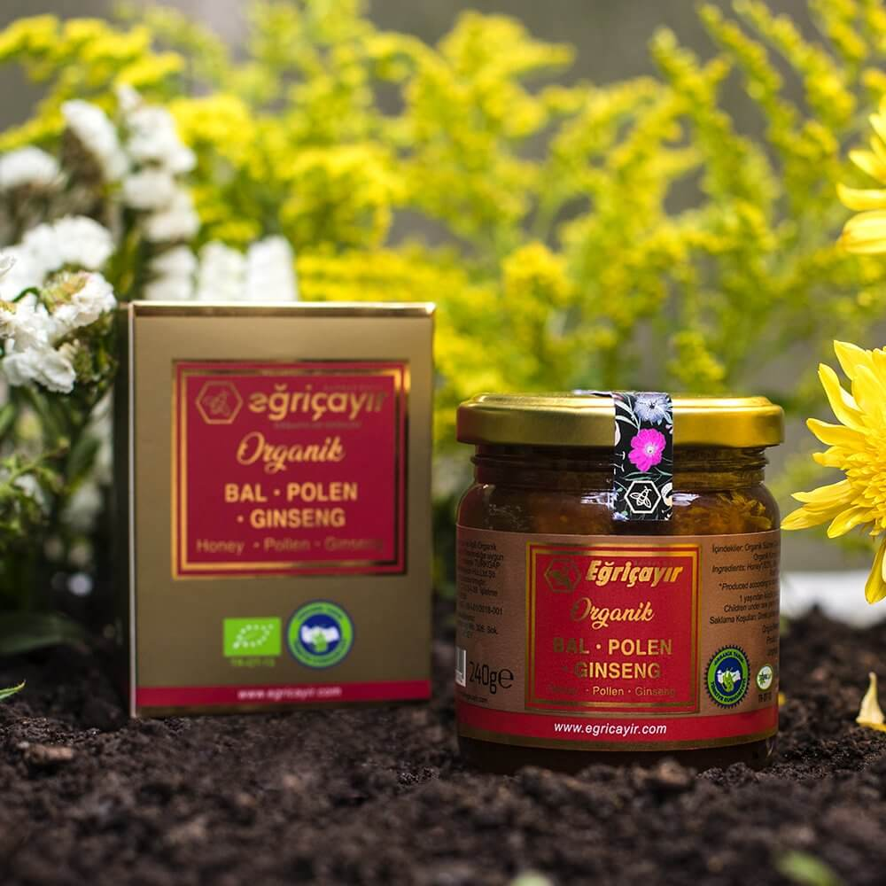 Organic Honey, Pollen, Ginseng Mix - TurkishTaste.com