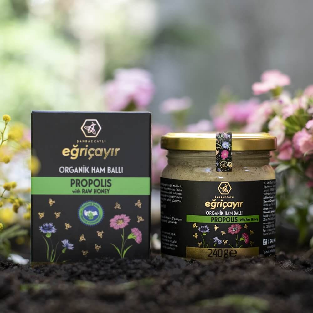 Organic Raw Honey and Propolis Mix - TurkishTaste.com