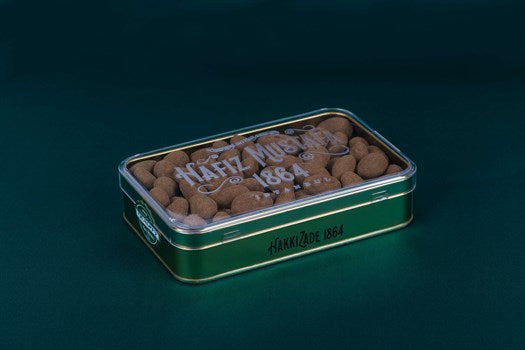 Cinnamon Almond Dragee Metal Box - TurkishTaste.com