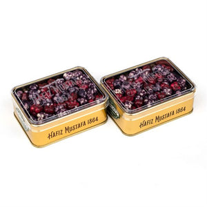 Mixed (Cherry and Blackberry) Dragee Metal Box - TurkishTaste.com