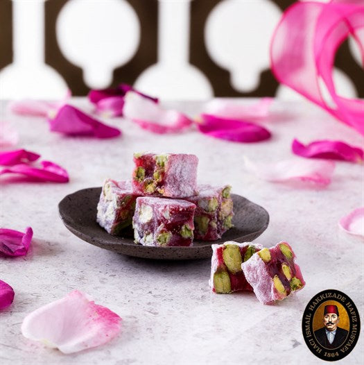 Double Pistachio Rose Turkish Delight - TurkishTaste.com