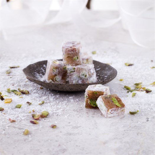 Double Pistachio Roasted Turkish Delight - TurkishTaste.com
