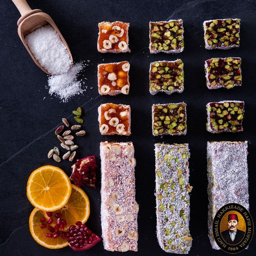 Orange Hazelnut Croquant Turkish Delight - TurkishTaste.com