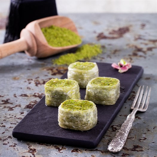Palace Baklava with Pistachio - TurkishTaste.com