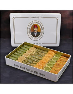 Assorted Pistachio and Walnut Baklava in Metal Gift Box 1700g