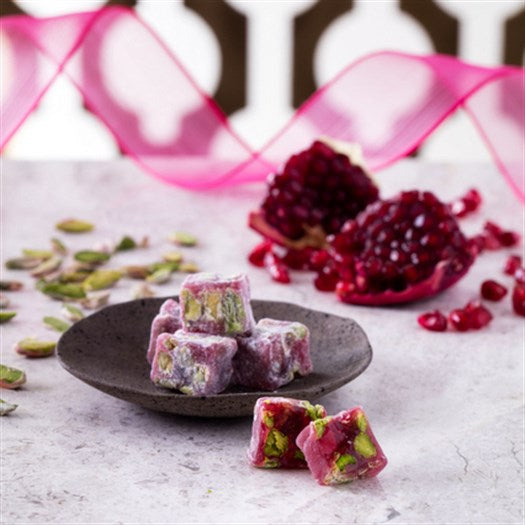 Double Pistachio Pomegranate Turkish Delight - TurkishTaste.com