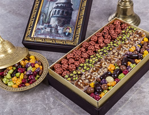 Assorted Premium Turkish Delight and Dragee Box