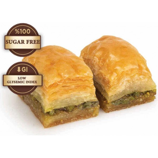 Fresh Diabetic Sugar Free Baklava with Pistachio
