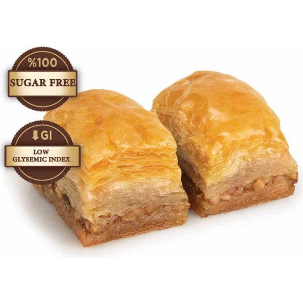 Fresh Diabetic Sugar Free Baklava with Walnuts - TurkishTaste.com