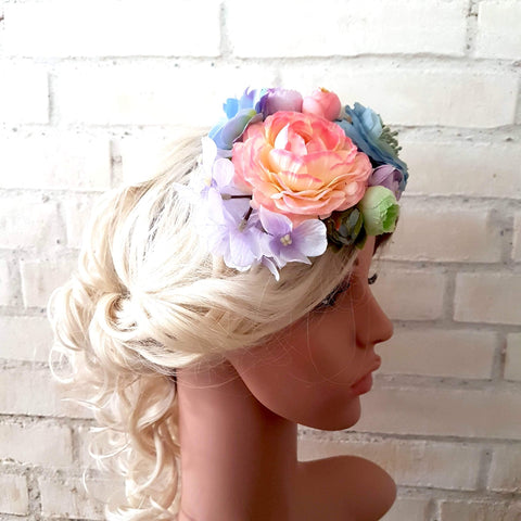 Fascinator / hat i pastelfarver