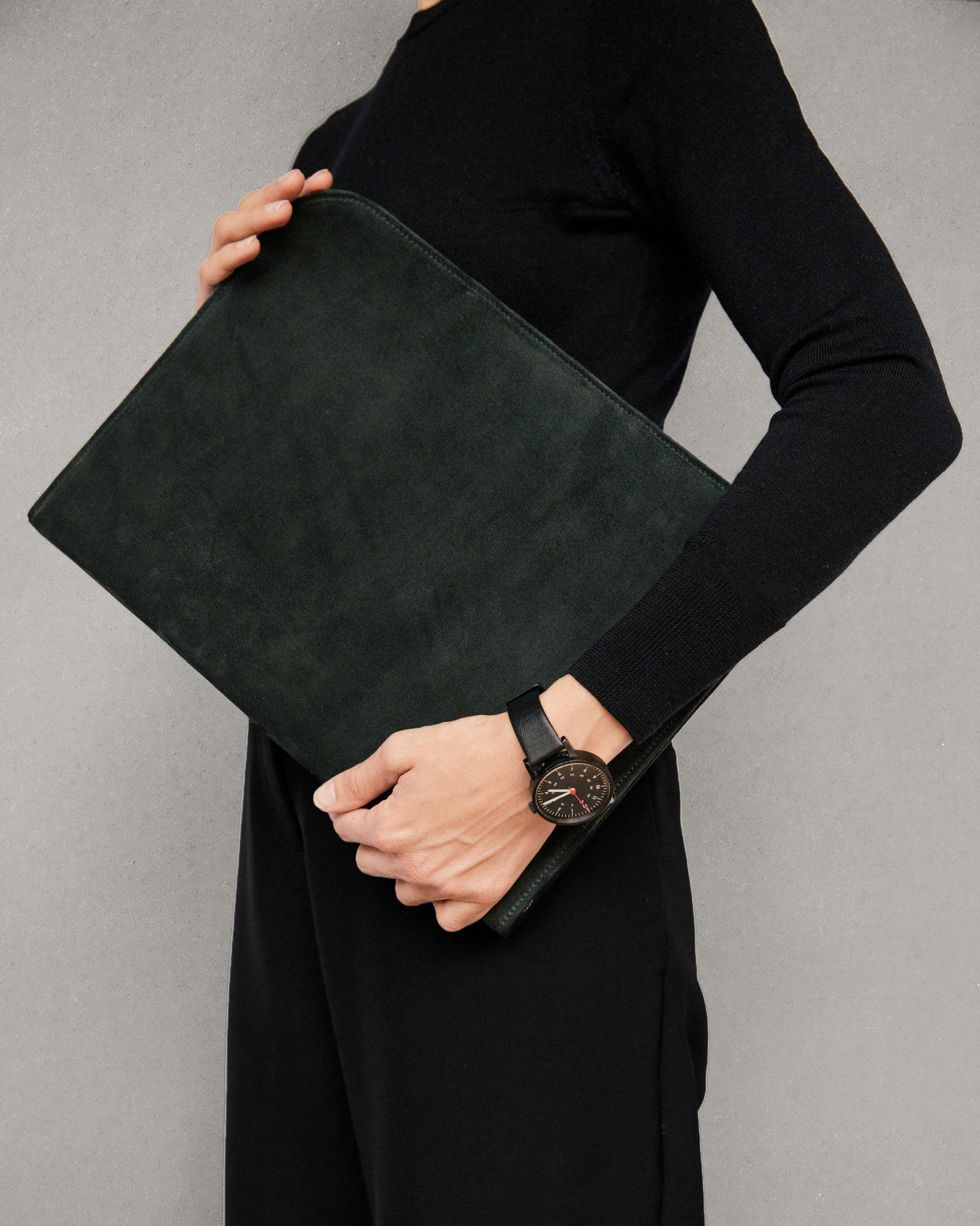 Suede Folio in Green
