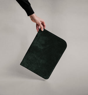 The Suede Folio in Green