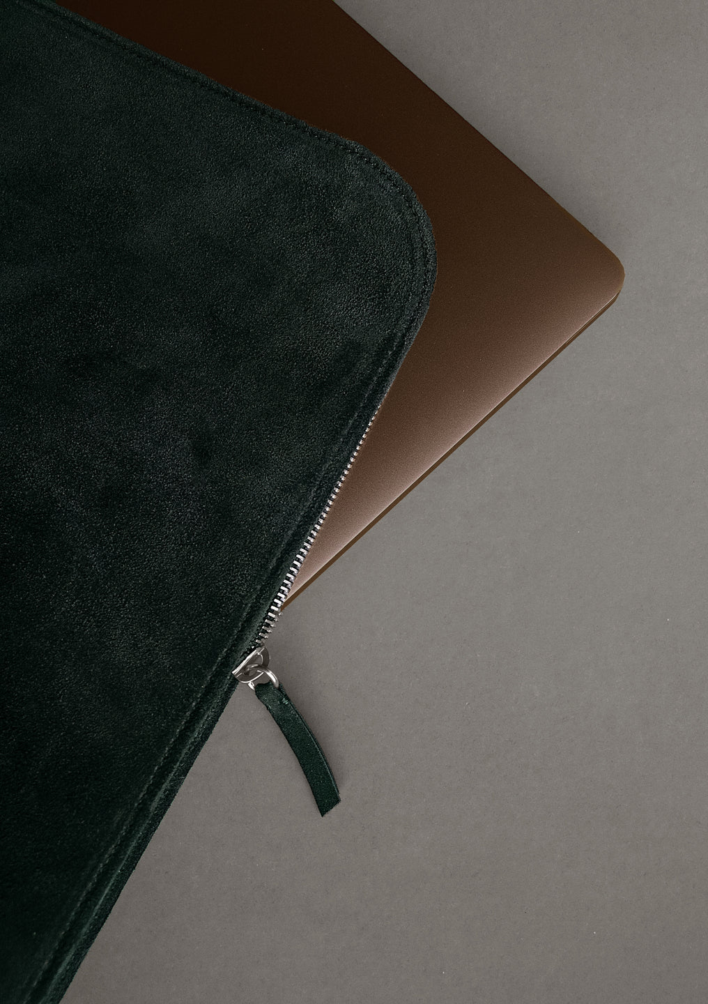 The Suede Folio in Green - The Suede Folio in Green