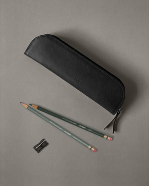 Leather Pencil Case in Black