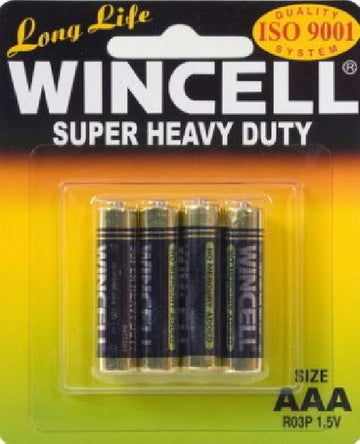 Wincell Super Heavy Duty AAA Carded 4Pk Battery - LonBrook - Stationary - purpleboxau