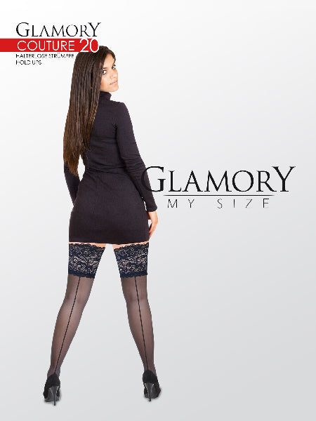 Glamory Plus Couture 20 Back Seam Hold Ups - The Purple Drawer