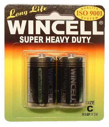 Wincell Super Heavy Duty C Size Carded 2Pk Battery - LonBrook - Stationary - purpleboxau