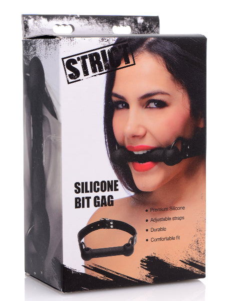 Silicone Bit Gag - The Purple Drawer