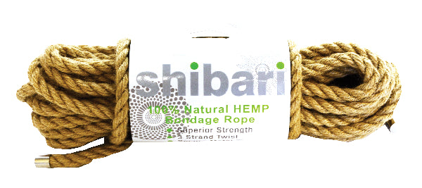 Shibari Rope 100% Natural Hemp 10m - The Purple Drawer