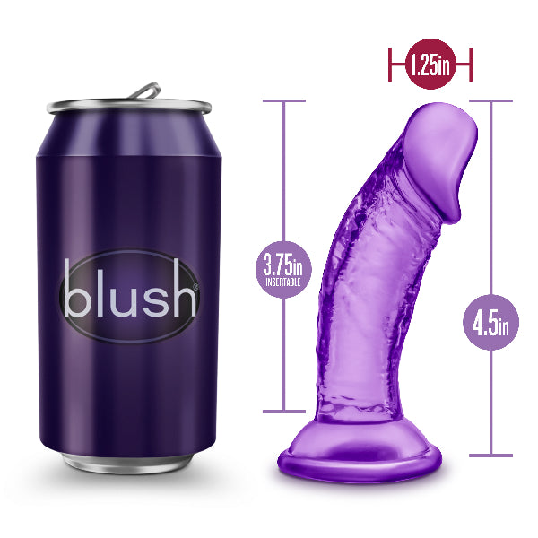 B Yours Sweet N Small  Dildo with Suction Cup 4in Purple - The Purple Drawer