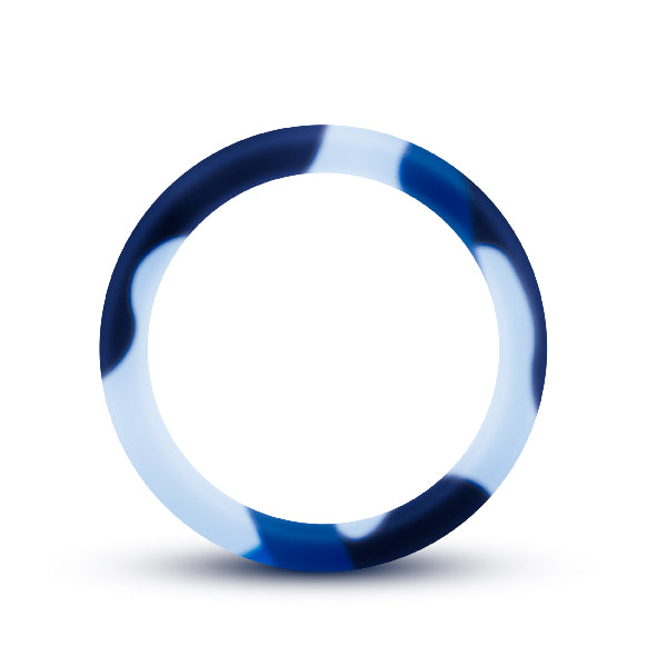 Performance Silicone Camo Cock Ring Blue Camoflauge - The Purple Drawer