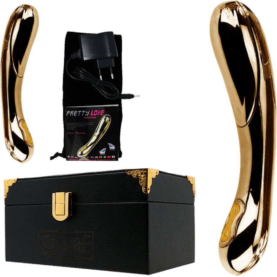 24K Gold Rechargeable Vibrator - The Purple Drawer