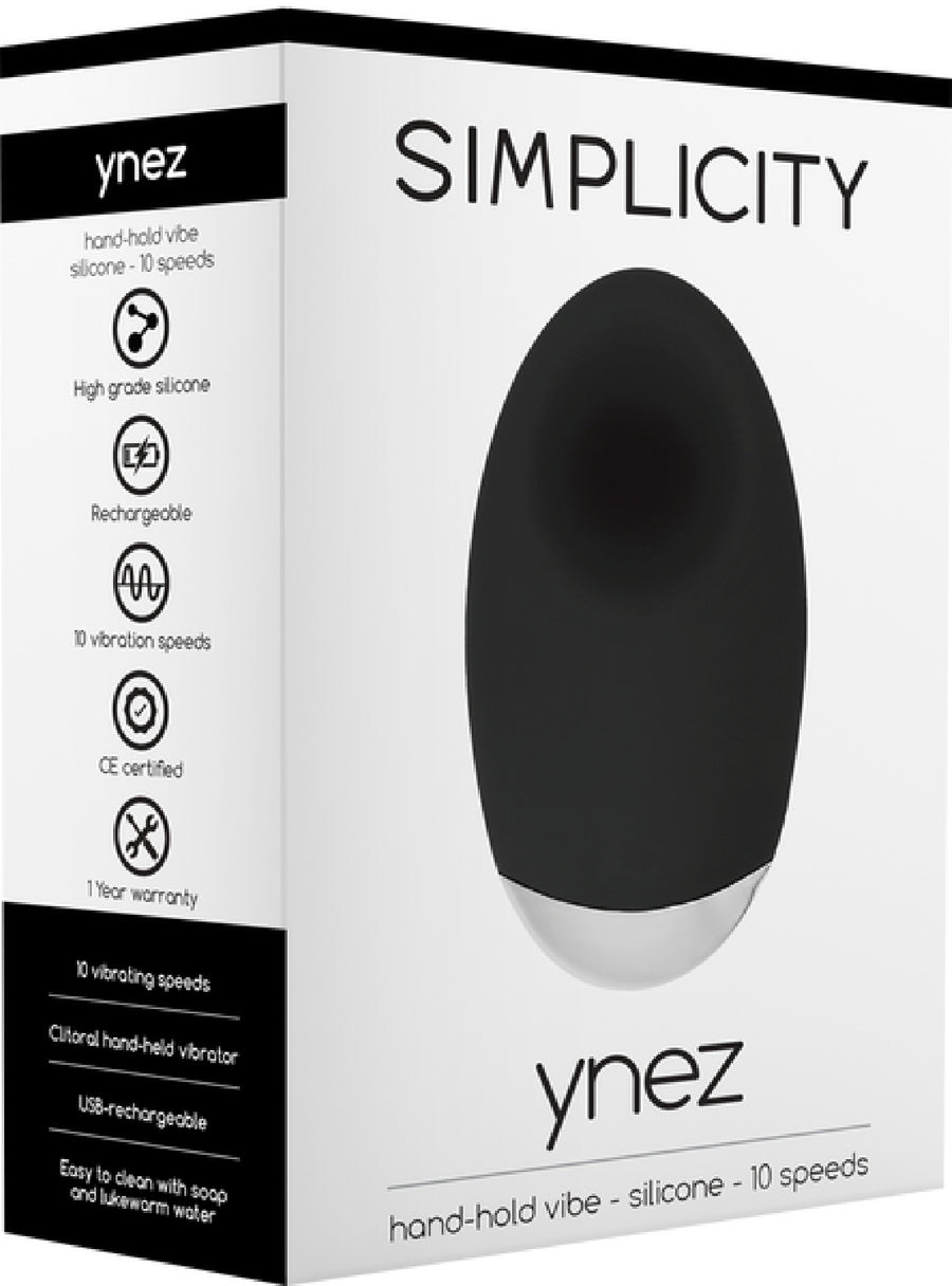 YNEZ Hand-Hold Vibe (Black) - Shots Media - Stimulators - purpleboxau