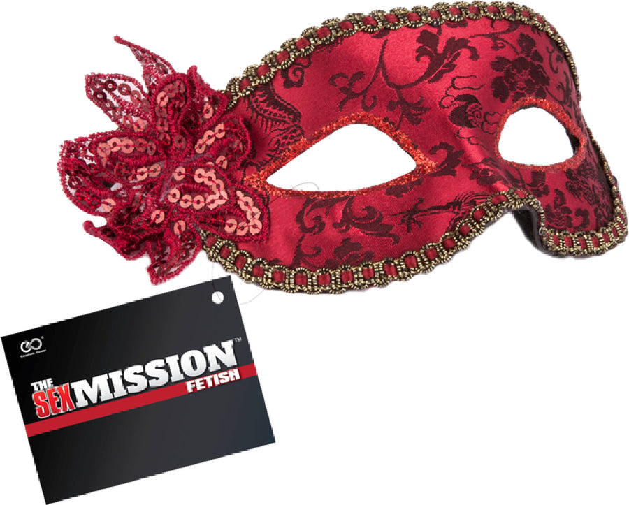 Masquerade Masks (Red) - The Purple Drawer