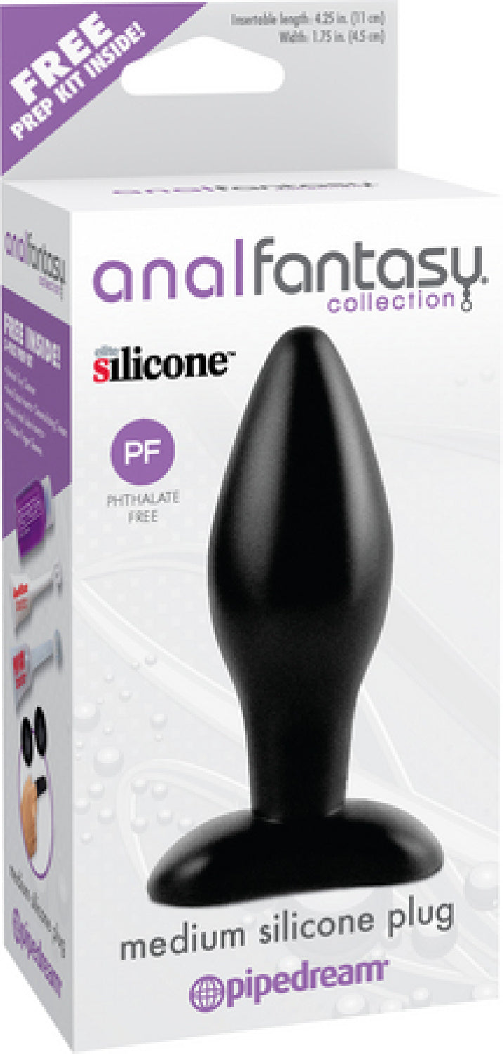 Medium Silicone Plug (Black) - The Purple Drawer