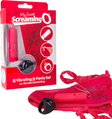 Vibrating Panty Set (Red)