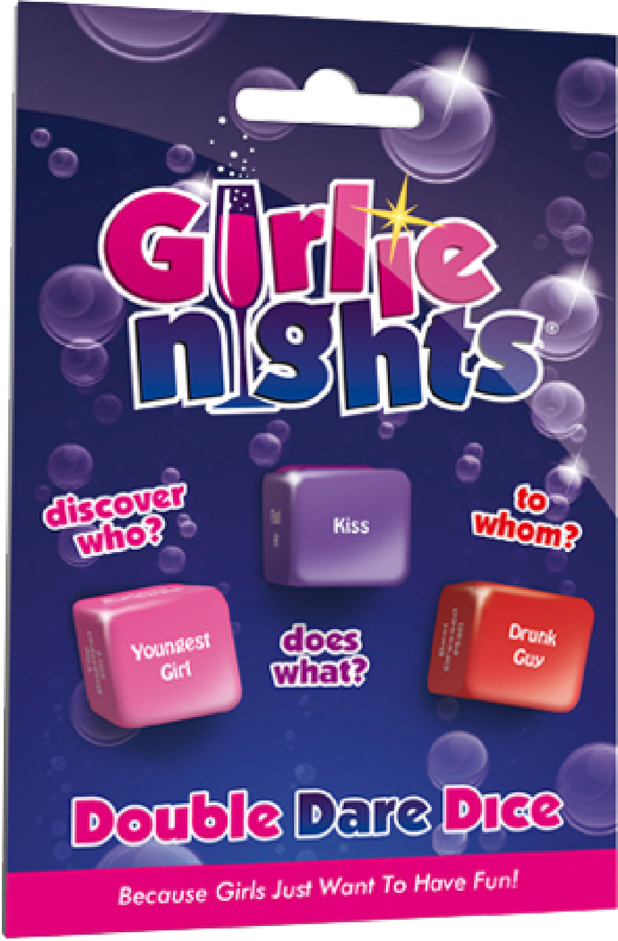 Girlie Nights Double Dare Dice - The Purple Drawer
