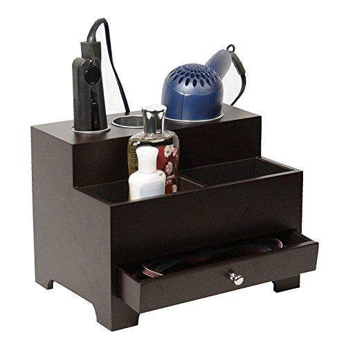 Stock Your Home Hair Dryer Holder Hair Styling Station Bathroom Vanity Countertop Organizer with Drawer for Hair Tools - Blow Dryer, Curling/Flat Iron, Straightener - Hair Care & Beauty Accessories