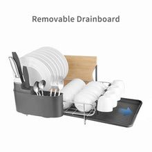 Load image into Gallery viewer, Save on homelody dish rack 2 tier dish rack with drainboard 304 stainless steel dish drainer for kitchen counter dish drying rack large capacity
