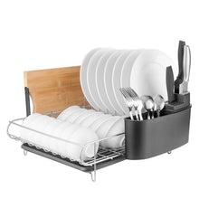 Load image into Gallery viewer, Related homelody dish rack 2 tier dish rack with drainboard 304 stainless steel dish drainer for kitchen counter dish drying rack large capacity