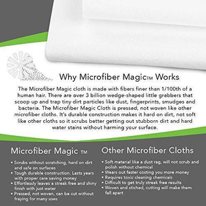 Try streak free microfiber cloth clean any surface with just water eco friendly environmentally safe large 16 size perfect for window mirror kitchen counter appliances car cycle tv screen 6 pack