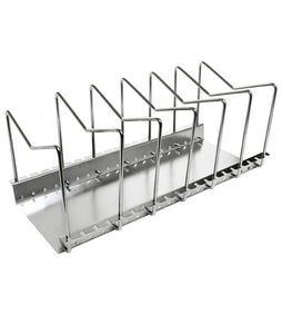 Latest fecihor stainless steel pan and pot lid cookware rack holder adjustable bakeware cookware kitchen cabinet pantry drying rack and countertop cookware organizer holders silver