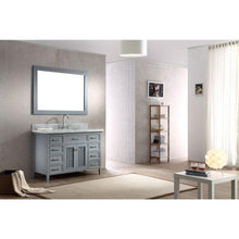 Load image into Gallery viewer, New ariel kensington d049s gry 49 inch solid wood single sink bathroom vanity set in grey with white carrara marble countertop