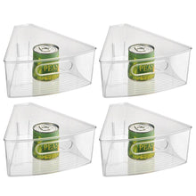 Load image into Gallery viewer, Amazon best interdesign plastic lazy susan cabinet storage bin 1 8 wedge container for kitchen pantry counter bpa free 10 25 x 9 5 x 4 set of 4 clear