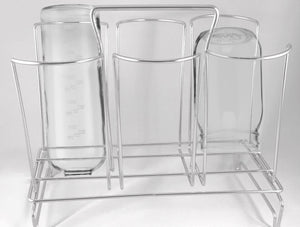 Budget bottle drainer drying rack for 6 large water bottles mason jars cutting boards plastic bags fits most beer bottles glass water bottles wine plastic stainless steel bottles countertop kitchen baby