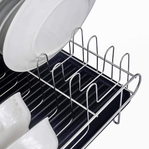 Save homelody dish rack 2 tier dish rack with drainboard 304 stainless steel dish drainer for kitchen counter dish drying rack large capacity
