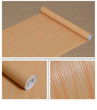 Load image into Gallery viewer, Buy now f u wood grain contact paper self adhesive shelf liner covering for countertop kitchen cabinets wall table door desk yellow 17 7 w x 393 l