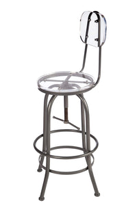Organize with statements by j hc170029 30p acrylic adjustable counter bar chair 43 5 inch tall silver