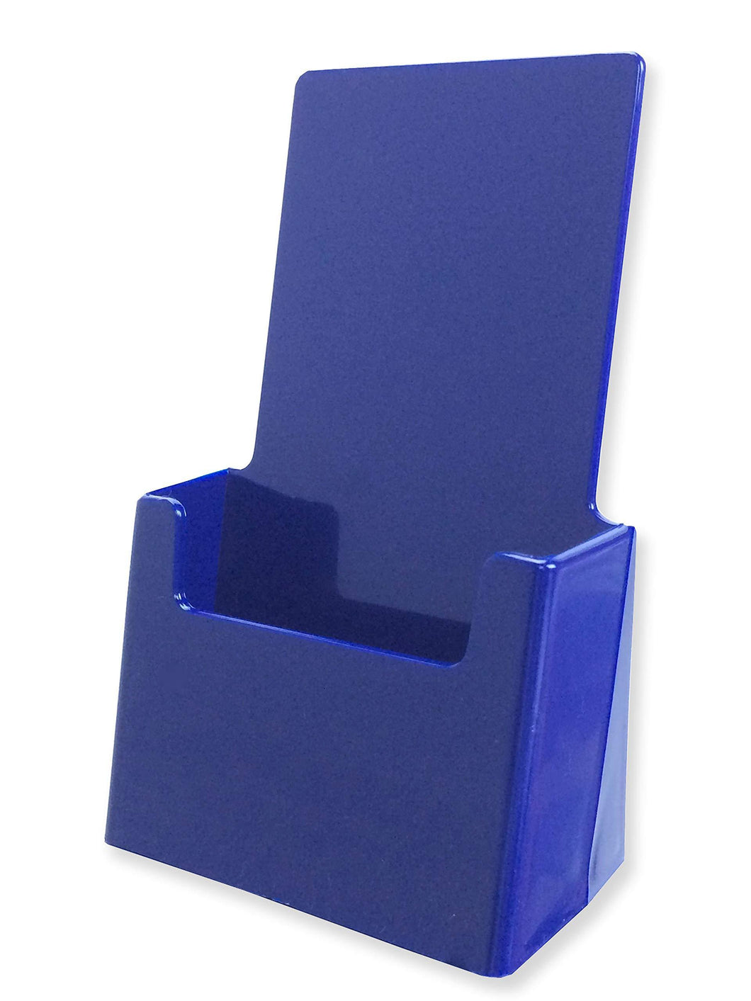 Shop for marketing holders blue brochure pamphlet holder advertisement literature display printed material paper rack countertop 4w x 7h pack of 25