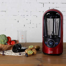Load image into Gallery viewer, Try pado haf hb310 red ozen 310 countertop kitchen blender for nutrient rich blending plus extra vacuum storage container red