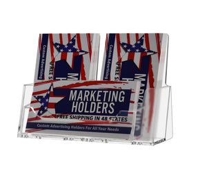Products marketing holders 3 pocket business contact card vertical and horizontal gift card holder business advertisement display retail countertop card organization pack of 12