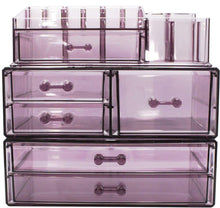 Load image into Gallery viewer, Shop sorbus cosmetics makeup and jewelry storage case display sets interlocking drawers to create your own specially designed makeup counter stackable and interchangeable purple