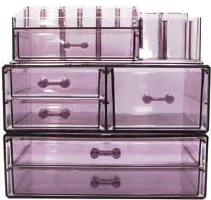 Shop sorbus cosmetics makeup and jewelry storage case display sets interlocking drawers to create your own specially designed makeup counter stackable and interchangeable purple