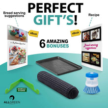 Load image into Gallery viewer, Try customizable two tier dish rack stainless steel professional drainer for counter or over the sink with drain board microfiber mat dispensing dish brush includes 2 free e books and mobile stand
