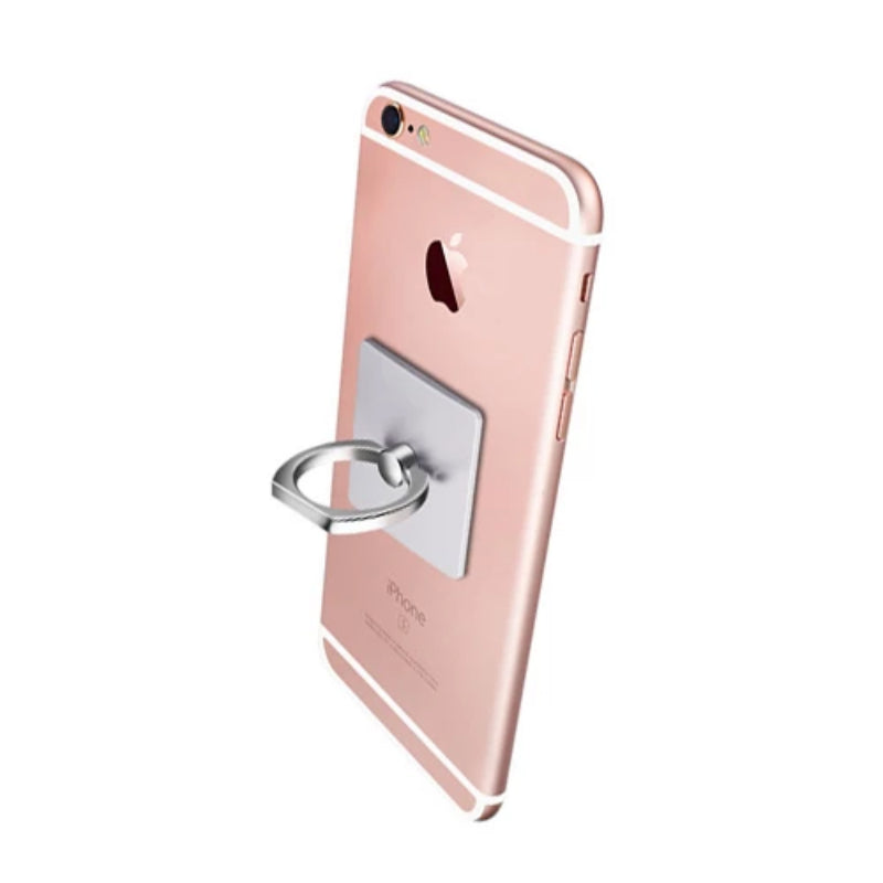 iGripz Phone Ring in silver steely metallic high quality  hand free secure grip phone iphone android samsung devices