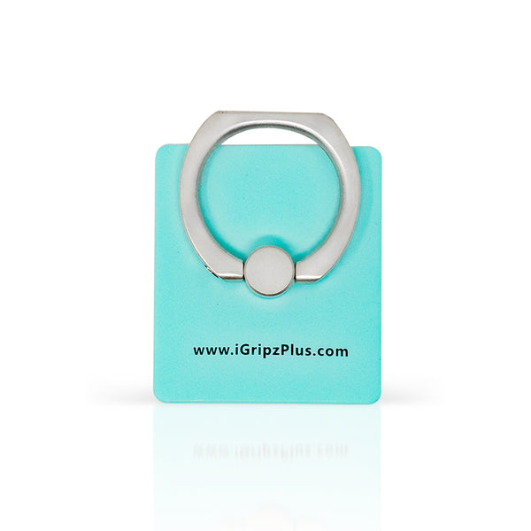 iGripz Phone Ring in matte aqua blue cyan  high quality  hand free secure grip phone iphone android samsung devices